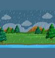 a simeple raining scene in nature vector image