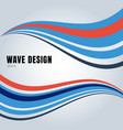 abstract blue and red color smooth waves design vector image vector image