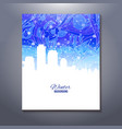 abstract urban scene with snow sky vector image