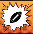 american simple football ball comics vector image vector image