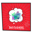 back to school - banner concept big school vector image vector image