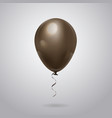 balloon for celebration decoration on grey vector image vector image