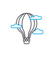 balloon thin line stroke icon balloon vector image
