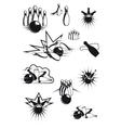 Black and white comic bowling balls and ninepins vector image