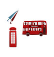 british symbols icon set vector image vector image