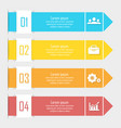 business infographics with arrow vector image