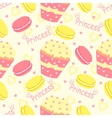 Candy princess pattern with cupcake and heart vector image