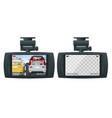 car dvr portable mobile dvr video camera camcorder vector image vector image