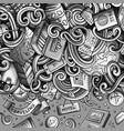 cartoon cute doodles travel frame design vector image