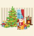 christmas 2019 happy new year greeting card santa vector image vector image