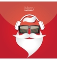 Christmas hipster poster for party or card vector image vector image