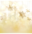 Christmas stars design template vector image