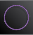 circle frame purple sequins glitter sparkle dot vector image