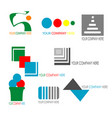 collection of colorful business logo template vector image vector image
