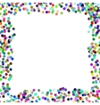 Colorful Confetti Frame vector image vector image