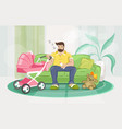 colourful paternity leave and fell vector image vector image