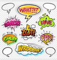comic sounds set-6 vector image vector image