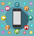 communication concept smart phone flat design vector image vector image