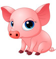 cute baby pig cartoon vector image vector image