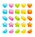 cute glossy jelly candies set vector image vector image