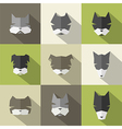 Dog Breeds icons vector image vector image