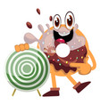 donut with target on white background vector image