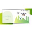 drones delivering cannabis parcel boxes marijuana vector image