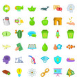 eco care icons set cartoon style vector image vector image