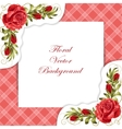 Frame with roses and leaves vector image vector image