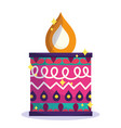 happy diwali festival colored candle flame vector image vector image