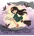 happy halloween halloween color vector image