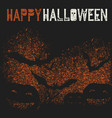 happy halloween holiday logotype pumpkins and vector image vector image