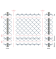 Highly detailed chain-link fence with no gradients
