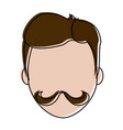 hipster face cartoon vector image
