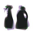 household chemical bottles sign colorful vector image vector image