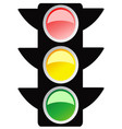 isolated traffic light design icon vector image vector image