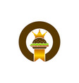 king burger logo design template vector image vector image