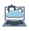 laptop with cloud computing vector image vector image