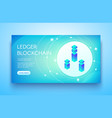 ledger blockchain ico vector image vector image