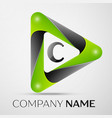 letter c logo symbol in the colorful triangle on vector image vector image