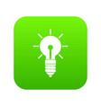 light bulb idea icon digital green vector image
