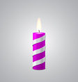 Lilac Christmas Candle vector image vector image