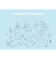 Line style design concept of business training and vector image vector image
