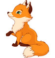 little fox vector image vector image