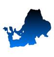 map of lake chiemsee vector image vector image