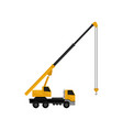 mobile hydraulic crane truck cargo transportation vector image vector image