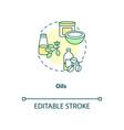 oils concept icon vector image