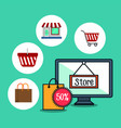 online store marketing icon vector image