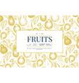 pear design template hand drawn garden fruit vector image vector image