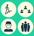 Person icons set collection of group network vector image